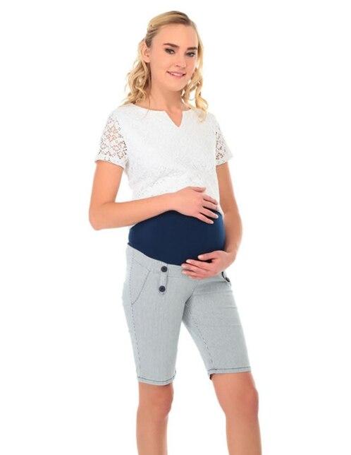 d29c6b878 Bermuda Weekend Maternity a rayas algodón