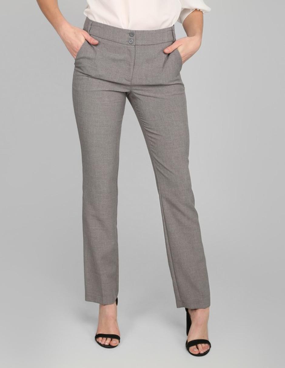 Pantalon Contempo Basico Corte Recto