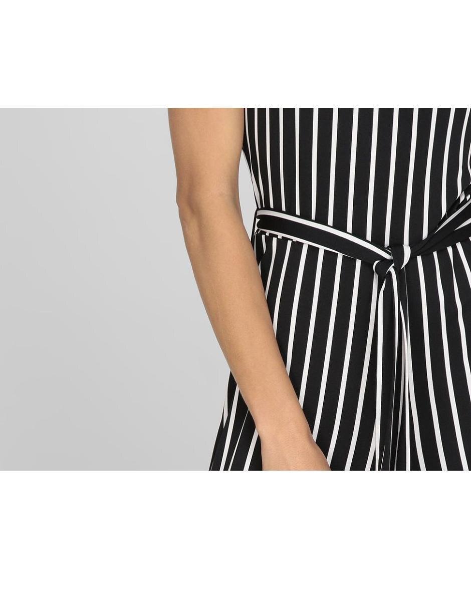 eb24473ff9 Jumpsuit Contempo a rayas cuello redondo