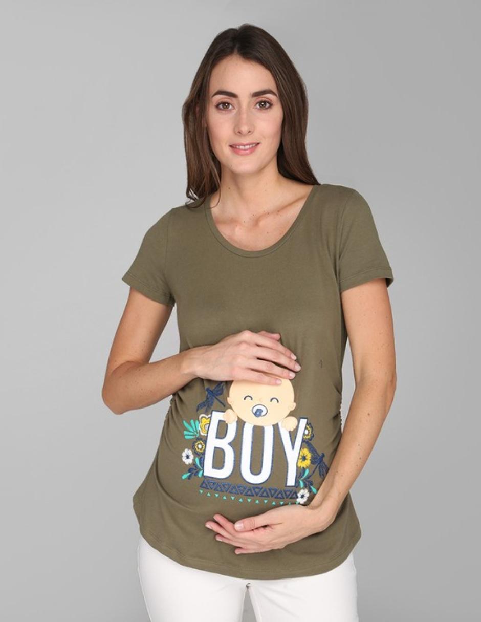8a52ba219 Playera Weekend Maternity estampada cuello redondo