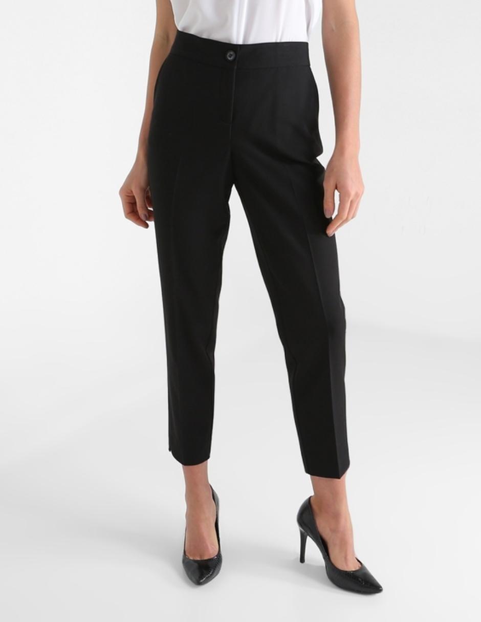 Pantalon De Vestir Contempo Cintura Alta Con Bolsillos